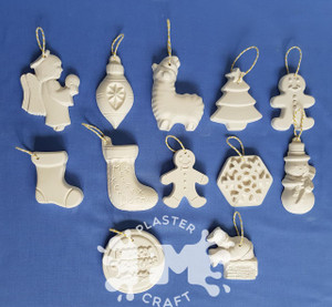 Christmas Ornaments Plaster Only