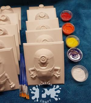 PM Plaster Craft Minions Basic Bulk Pack