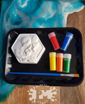 PM Plaster Craft Hexagonal Bee Small Gift Pack