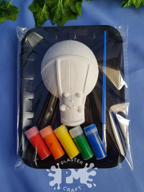 PM Plaster Craft Bear In Hot Air Balloon Small Gift Pack
