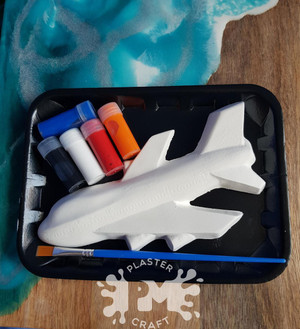 PM Plaster Craft Jet Plane Small Gift Pack