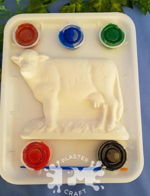 PM Plaster Craft Cow Medium Gift Pack