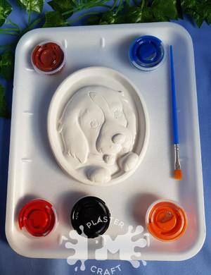 PM Plaster Craft Dog Plaque Medium Gift Pack