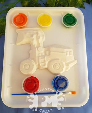 PM Plaster Craft Loader Vehicle Medium Gift Pack
