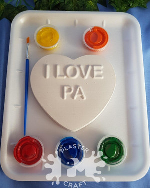 PM Plaster Craft I Love Pa Heart Medium Gift Pack