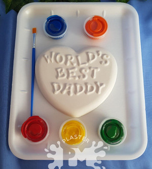 PM Plaster Craft Worlds Best Daddy Heart Medium Gift Pack