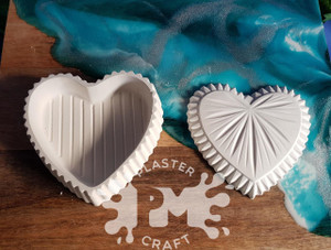 PM Plaster Craft Heart Jewellery Box Gift Pack