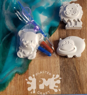 PM Plaster Craft Wild Animals Party Favour