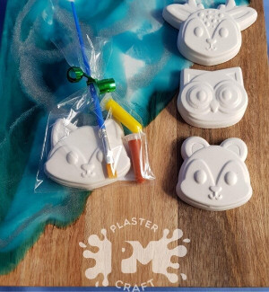 PM Plaster Craft Woodland Animal Party Favour