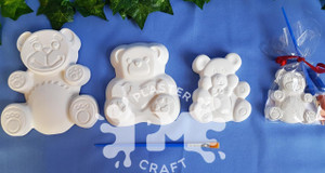 PM Plaster Craft Teddy Bear Party Bundle