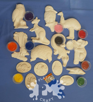 PM Plaster Craft Australian Animals Basic Bulk Pack