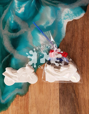 PM Plaster Craft Motorbike Party Favour