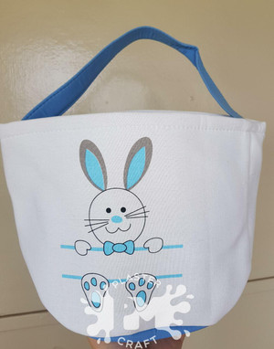 Filled Personalised Easter Basket With Activities