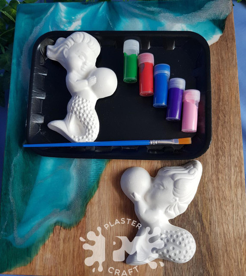 PM Plaster Craft Mermaid Holding Pearl Small Gift Pack
