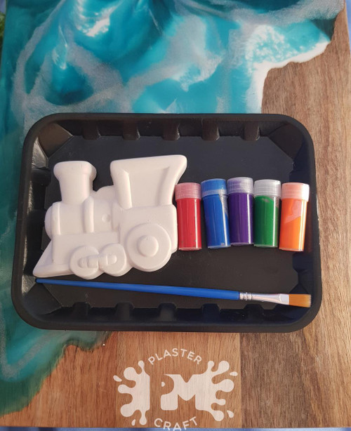 PM Plaster Craft Cartoon Train Small Gift Pack
