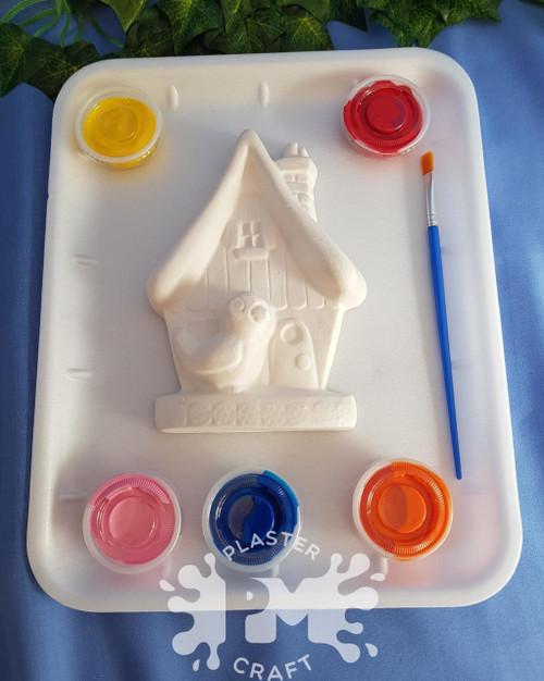 PM Plaster Craft Bird House Medium Gift Pack