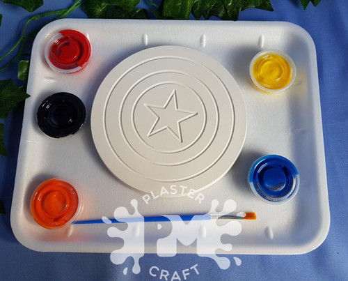 PM Plaster Craft Captain America Shield Medium Gift Pack