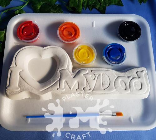 PM Plaster Craft I Love My Dad Photo Frame Medium Gift Pack