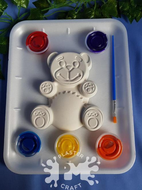 PM Plaster Craft Teddy Bear Medium Gift Pack