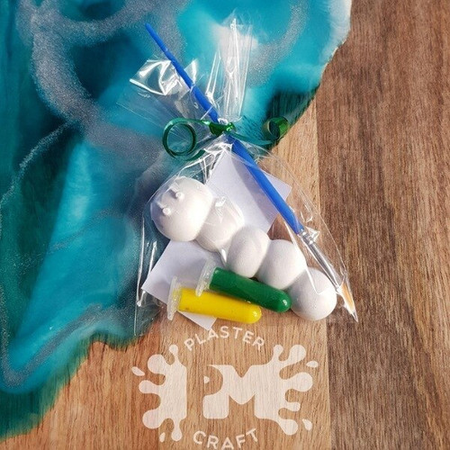 PM Plaster Craft Caterpillar Party Favour