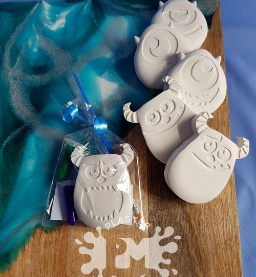 PM Plaster Craft Monster Party Favour