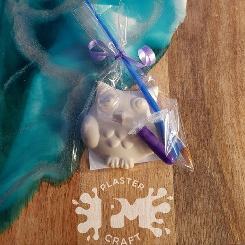 PM Plaster Craft Owl Party Favour