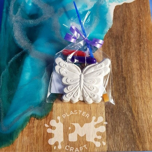 PM Plaster Craft Square Butterfly Party Favour