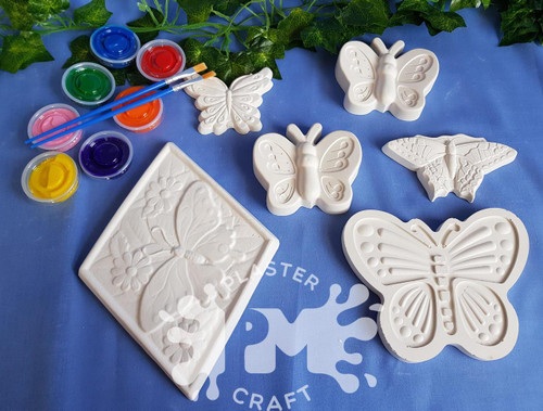 PM Plaster Craft Butterfly Collection Bulk Pack