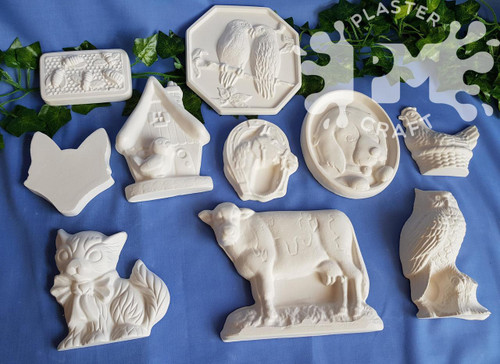 PM Plaster Craft Farm Animals Bulk Pack