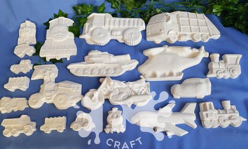 PM Plaster Craft Amazing Machines Bulk Pack