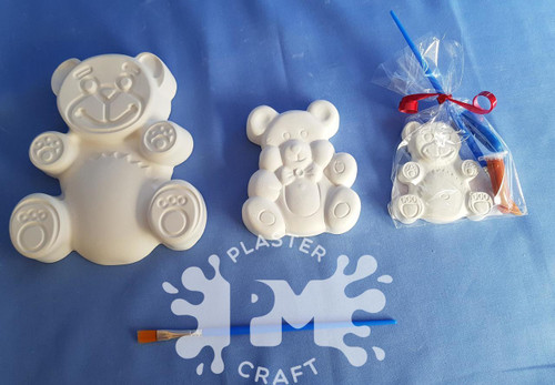 PM Plaster Craft Teddy Bear Party Bundle smaller