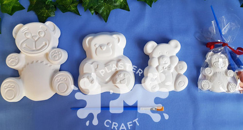 PM Plaster Craft Teddy Bear Party Bundle