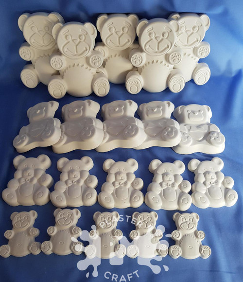 PM Plaster Craft Teddy Bears Picnic Bulk Pack