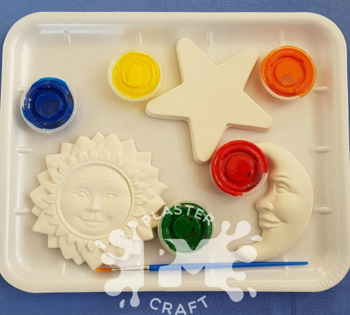 PM Plaster Craft Sun, Stars And Moon Gift Pack