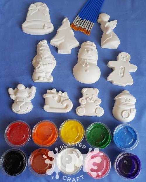 Christmas Plaster Painting- Small Basic Bulk Pack