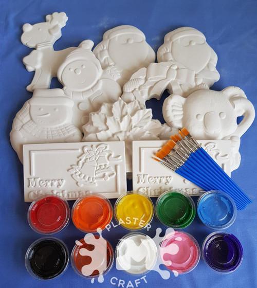Christmas Plaster Painting- Medium Basic Bulk Pack