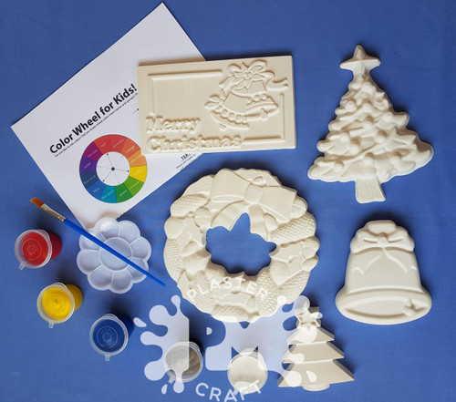 Christmas Plaster Painting-Creative Kids Package