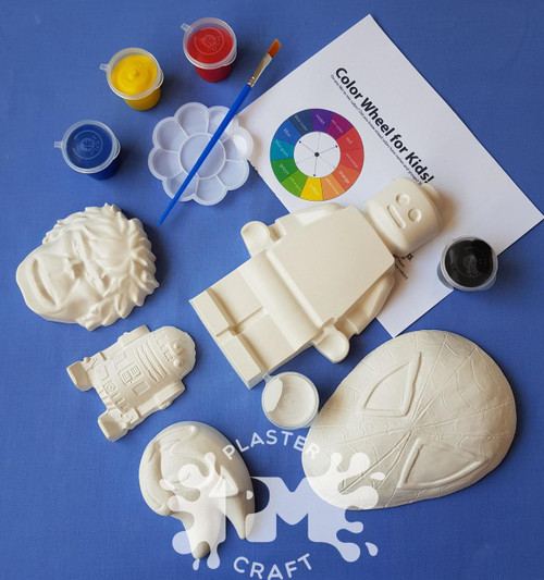 One For The Boys Plaster Painting-Creative Kids Package