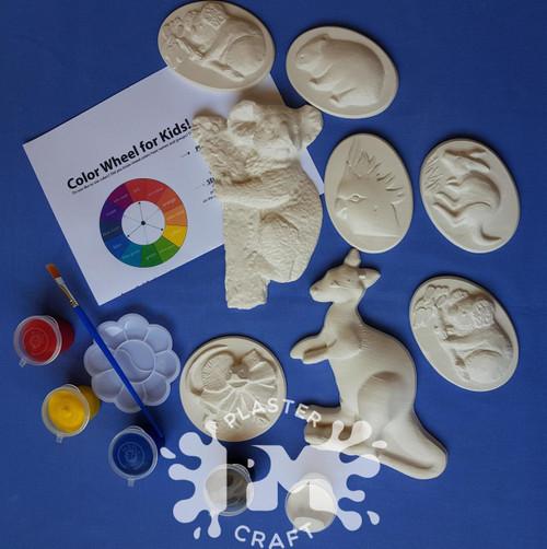 Australian Animals Plaster Painting- Creative Kids Package