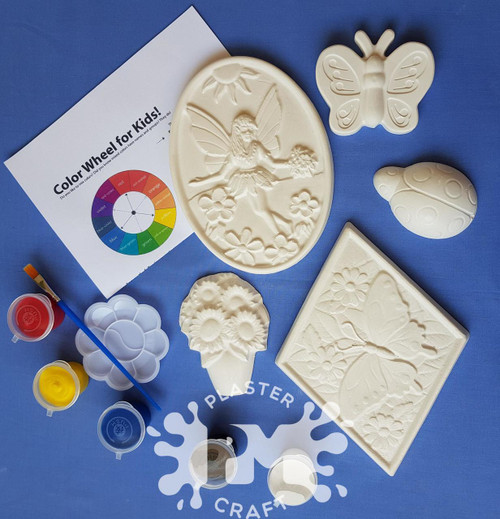Fairy Garden Plaster Painting- Creative Kids Package