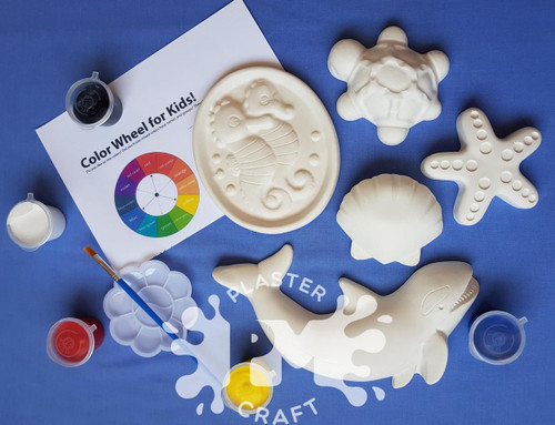 A Day At The Sea Plaster Painting- Creative Kids Package