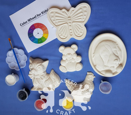 Furry And Cute Plaster Painting- Creative Kids Package
