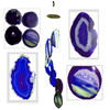 Agate Windchimes - Purple Agate Slabs with Bamboo style hanger - Large