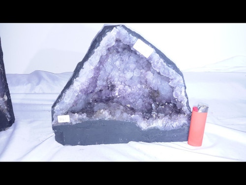 """Amethyst Church Crystal Cathedral Geode -  Almost 9"""" Tall"""
