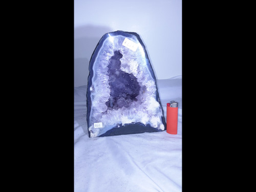"Amethyst Church Crystal Cathedral Geode -  Almost 10"" Tall"