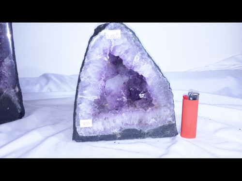 "Amethyst Church Crystal Cathedral Geode -  8"" Tall"