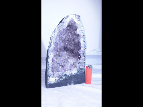 "Amethyst Church Crystal Cathedral Geode -  Almost 11"" Tall"