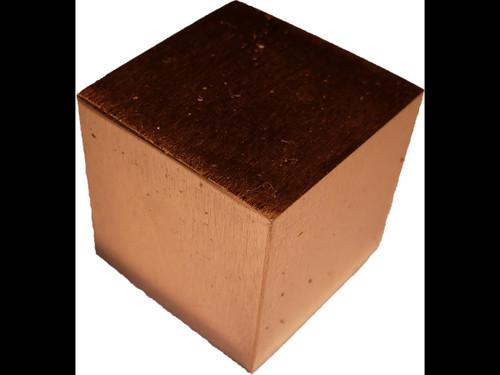1 Inch Square Solid Copper Cube