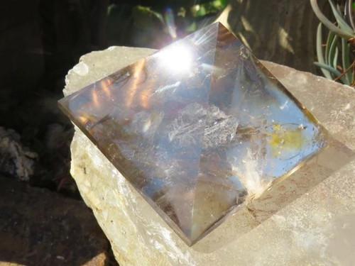 Polished Clear Quartz Crystal Pyramids  - Madagascar