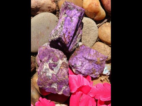 Natural Purpurite Chunk Specimens - Grab Bag